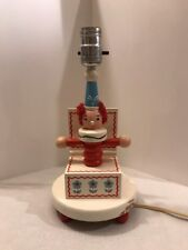 Vintage Nursery Plastics Inc. (Irmi) Lamp, Jack In Box Motif, 50s/60s, Works