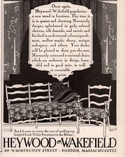 VINTAGE  AD HEYWOOD WAKEFIELD FURNITURE  NORMANDY SUITES CHINTZ