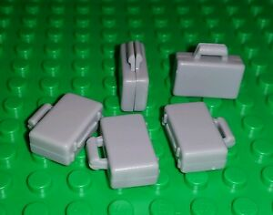 Lot of 5 Lego Grey Briefcases (Minifigure Utensil)