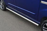 Chrome Side Step Tubes Bars Set S.Steel To Fit LWB Ford Transit Custom (2012+)