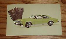 Original 1974 Chevrolet Malibu Classic Colonnade Sedan Post Card 74 Chevy