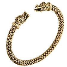 Men Viking Dragon Wolf Head Punk Bracelet Norse Mythology Beast Bangle Jewelry Bronze #1