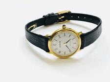 Vintage Geneva Gold Tone Women's Slim Quartz Wrist Watch France Movement(10712M)