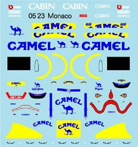 F1 DECALS MUSEUM COLLECTION D656 1/43 FOR LOTUS 100T & TYRRELL 020C