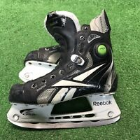 Reebok 6K Pump ice hockey skates shoe size US 3 sz 1.5 youth boys skate black