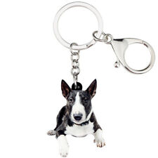 Acrylic American Pit Bull Terrier Dog Keychain Ring Pet Purse Jewelry For Women