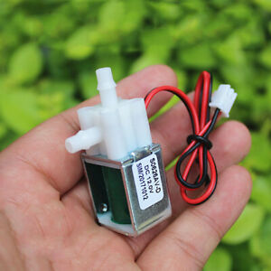 Micro Mini Electric Solenoid Valve DC12V Normally Closed Air Water Control Valve