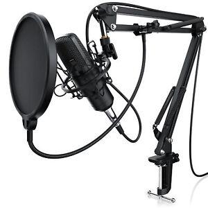 LIAM & DAAN Profi Podcast Set Studiomikrofon Set Großmembran Kondensatormikrofon
