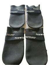 Dog Paw Protecteurs Boots Fleece Lined XL black velcro waterproof snowproof