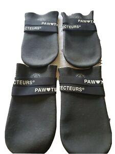 Dog Paw Protecteurs Boots Fleece Lined XL black waterproof snowproof