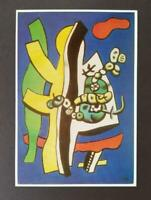 """Fernand Leger  """"Still Life With Fruit..""""  Mounted off-set Color Lithograph 1971"""