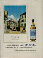 1956 Martell Most Treasured Cognac in France Paris Vintage Print Ad 2644