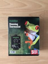 Habistat Dimming Thermostat - Classic Black - Max 600w Product Box Instructions