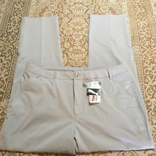 Puma Mens Size 36X32 Golf Pants Thermo Cool Sport Lux Tech Gray 568467