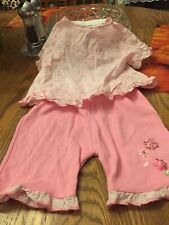Two Piece Set For Baby Girl, Size 12 Months, All Cotton, Babyworks Brand