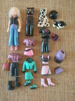 "Polly Pocket Doll Lot ""Colors of the Rainbow"" Black Clothes Accessories 3-94"