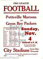 Green Bay Packers Pottsville  Maroons Poster 1928 NFL Vintage Football  reprint
