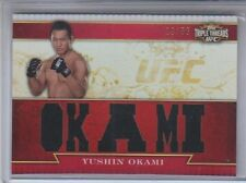2012 Topps UFC Knockout Triple Threads Relic Yushin Okami TTR-YO 19/36 NM Cond