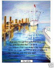 Ex LibrisTranquil Tide,I Shall Pass ThroughAntique look