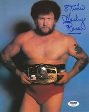 Harley Race Signed 8x10 Photo PSA/DNA COA WWE Picture w/ NWA Belt Autograph WCW