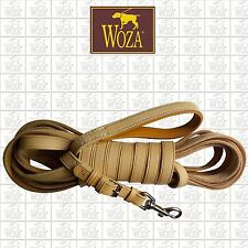 PREMIUM WOZA HUNTING LEAD GENUINE COW LEATHER NAPA PADDED TRAINING LEASH HL16245