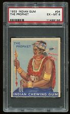 1933 Indian Gum #034 The Prophet (48 Blue) PSA 6 EX-MT Cert #11499186