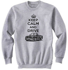 BMW M4 INSPIRED KEEP CALM P - NEW COTTON GREY SWEATSHIRT ALL SIZES IN STOCK