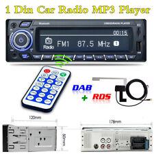 Radio Coche Bluetooth Estéreo 1Din reproductor de MP3 USB AUX unidad principal TF iso&dab Antena