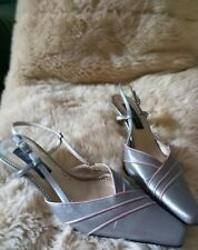Jaques Vert Size 6 Slingback In Taupe With Rose Gold Trim (see description)