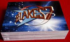 "BLAKE'S 7 - COMPLETE ""Blue Series"" BASE SET of 54 CARDS - Unstoppable Cards Ltd"