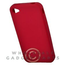 Apple iPhone 4/i4S Rubber Skin Case Red Cover Shell Protector Guard Shield Case