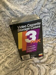 3-Pack Gemini Video Cassette Storage Cases Fits VHS or Beta New Sealed