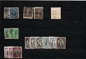 Chile stamps plate flaws  varieties imprints displaced color variations perfins