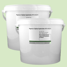 Sulfato de magnesio heptahidratado sales de Epsom 99.5% () 2 X 5Kg (10Kg)