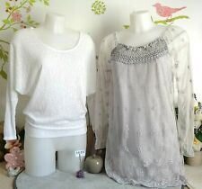 """Lot vêtements occasion femme - Pull, Tunique """" Made in Italy """" - T : 38 / 40"""