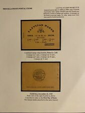 Latvian First Independence Stamp Booklets Two