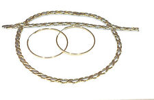 "2 Tone Hugs And Kisses Stampato Necklace & Bracelet & Hoop Earrings Set-18"" XOXO"