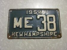 1954  NEW HAMPSHIRE LICENSE PLATE  FREE SHIPPING