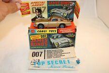 Corgi Toys 261 Aston Martin James Bond very near mint in box original condition