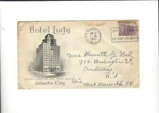1939 Hotel Ludy Guest Mailing Envelope Atlantic City, NY