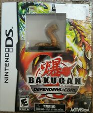 BAKUGAN DEFENDERS OF THE CORE NINTENDO DS w LIMITED FIGURE  BROWN SNAKE