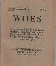 Eric Gill / Welfare Handbook No 4 Woes Being extracts from The New Testament