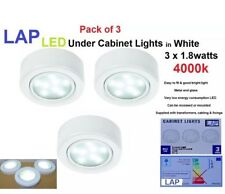 LAP LED Under Cabinet 3 Pack Kitchen Cupboard Light Spots in White Daylight NEW