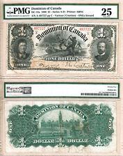1898 $1 Dominion of Canada DC-13a Logging Scene, PMG VF25