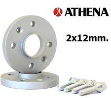 COPPIA DISTANZIALI RUOTE ATHENA 12 MM. FIAT 500 ABARTH 2008-> CON BULLONI