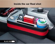 Black Car Seat Side armrest Box Organiser Storage Catcher Filler Key Cup Holder