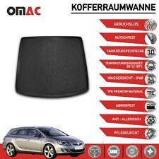Kofferraummatte Antirutsch Kofferraumwanne für Opel Astra H 2004-2014 SW Schwarz