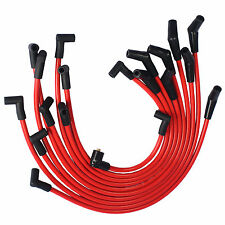 10.5mm Racing Spark Plug Wires JDMSPEED Set Red For Ford SB SBF 302 5.0L 5.8L