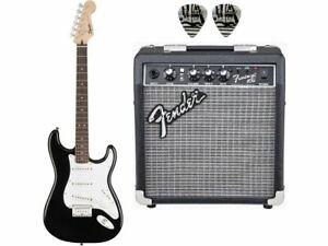 FENDER Bullet Stratocaster Black Bundle Chitarra elettrica nera + amplificato...