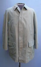 Vtg 1960s 1970s BURBERRY Field Coat Short Mac Hiking Jacket Tartan Wool Lining L